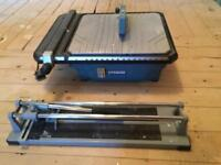 Erbauer wet tile cutter and dry tile cutter