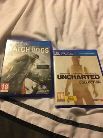 Two ps4 games watchdogs and uncharted