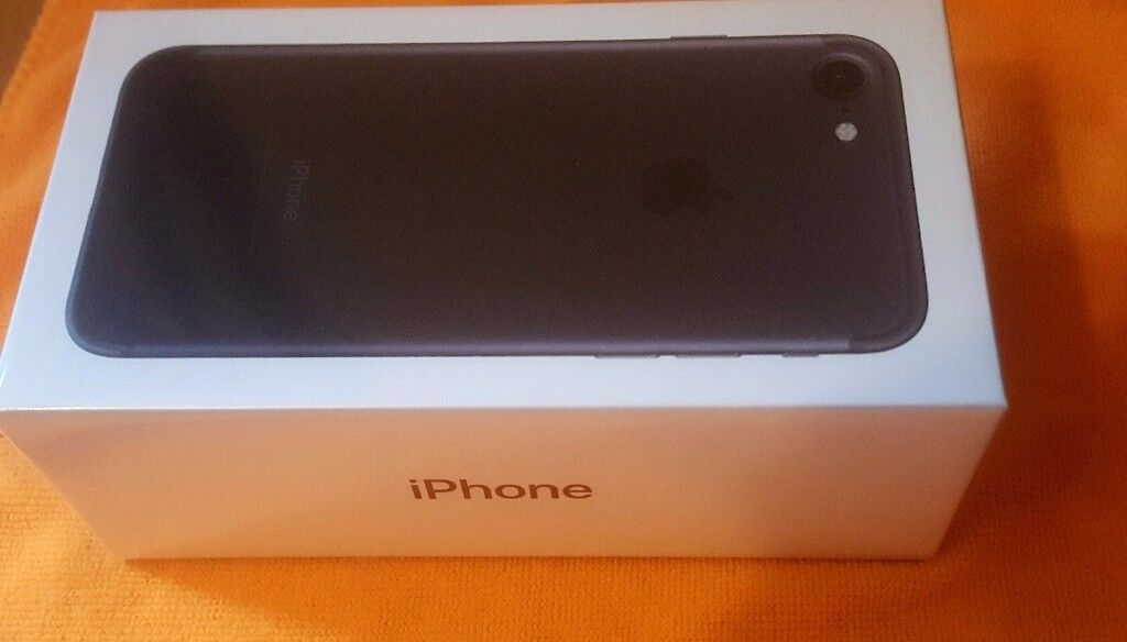 Apple iPhone 732GBBlack (Unlocked/Simfree) Smartphone Brand New Sealedin Stoke on Trent, StaffordshireGumtree - IPHONE 7 32GB MOBILE PHONE in BLACK UNLOCKED BRAND NEW. Brand New Box Sealed Unopened. Apple warranty 1 Year from activation. BOX SEALED. AN IDEAL GIFT OR UPGRADE. Free Glass Screen Protector Included. Guarantee provided. Collection or Delivery