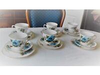 Vintage 1950s Queen Anne fine bone china tea set