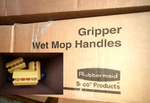 NEW 9x Rubbermaid commercial Gripper Wet Mop 5' Handle aluminium