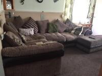 Large corner sofa with storage Stool