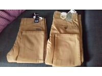 2 pairs of Men's Chinos - size 32R *BRAND NEW WITH TAGS*