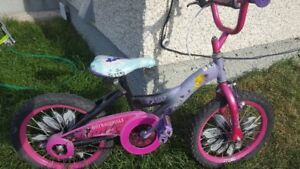 Girl's Tinkerbell bicycle and (brand new) helmet