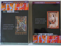 Norton Anthology of Modern and Contemporary Poetry in 2 volumes