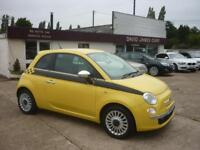 FIAT 500 1.2 Sport 3dr (yellow) 2009