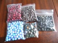 Marble/stone-effect beads, several colours!