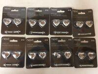 Next Pair of Glass Heart Pulls Handles new ... price per pack