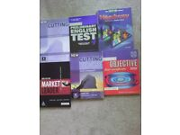 English course student's books