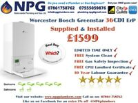 SUPPLY & INSTALL Worcester Bosch Greenstar 36CDi Combi Boiler ErP Model(50% OFF {British Gas}RRP 5K)