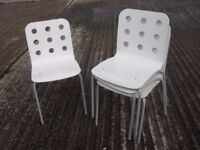 Four stackable chairs