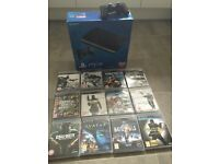 PS3 PLAYSTATION 500GB SUPER SLIMLINE CONSOLE + 12 GAMES BOXED SEALED MINT CONDITION