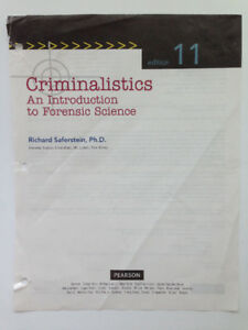 *** Criminalistics: An Introduction to Forensic (edition 11) ***