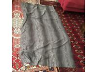 Sheer grey and white scarf £4