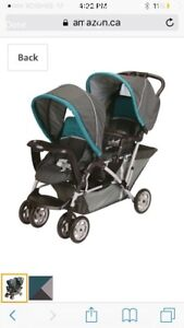 New Graco DuoGlider Classic Connect Double Stroller