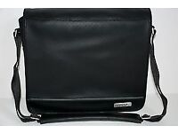 GENUINE BOSE LEATHER TRAVEL BAG / CARRYING CASE FOR SOUNDDOCK & SOUNDLINK - BLACK - MINT CONDITION!