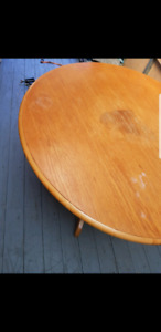 Round table has few stains