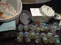 15 Tommee Tippee Bottles, Large Steam & small Steriliser, Snuggle Bath & More