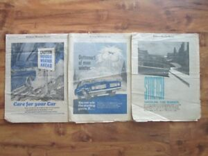 Kitchener-Waterloo Record Auto Sections 1970, 1972 and 1974