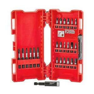 MILWAUKEE 25-Pcs Shockwave Impact Driver Bit Set with Case