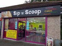 "A Running Business for sale, Ice Cream shop ""Sip n Scoop"""