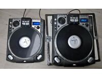 NUMARK CDX VINYL-CONTROLLED CD TURNTABLE Decks x2 (Ideal for a DJ)