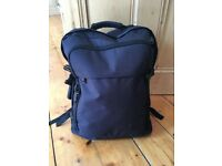 Large Navy Rucksack Backpack Cabin Bag Laptop Bag Travel On Board Carry On Hold All