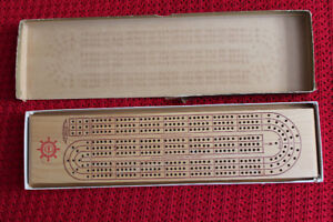 Shell Oil Advertising ACME wooden cribbage board crib