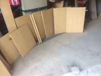 job lot of Greenwich beech doors and drawers from howdens