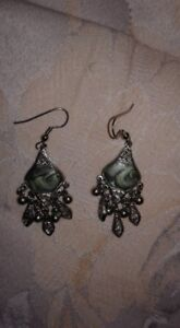 Earrings - unknown maker and metal type