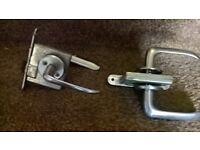 door handles silver