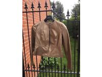 Ladies gold leather jacket