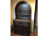 Dutch dresser oak - Display unit with drawers and cupboard
