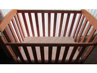 wooden babys cot