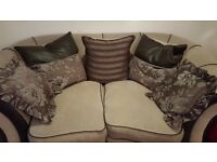 Suede leather 3 seater and 2 seater sofa for sale