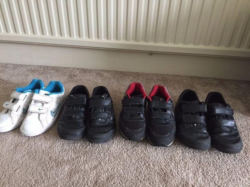 2b1d337fd72 Boys Clarkes school shoes ( x 2) Nike Trainers (x2) Sizes 1