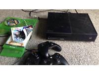 Xbox one 3 controllers few games boxed