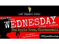 UK Open Mic | 7pm | EVERY WEDNESDAY @ The Apple Tree, Clerkenwell (Farringdon/Holborn/King's Cross)