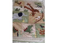 animal bedding/cover/quilt for child/baby size 110cms(43) x 90cms(39) approx