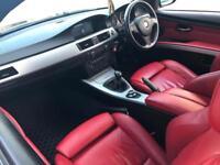 2007 57 reg BMW 320 I 2.0 M Sport Coupe + Black + RED LEATHER + NICE SPEC