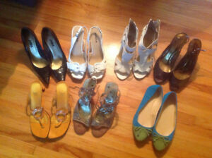 Various ladies dress shoes 7.5 to 8