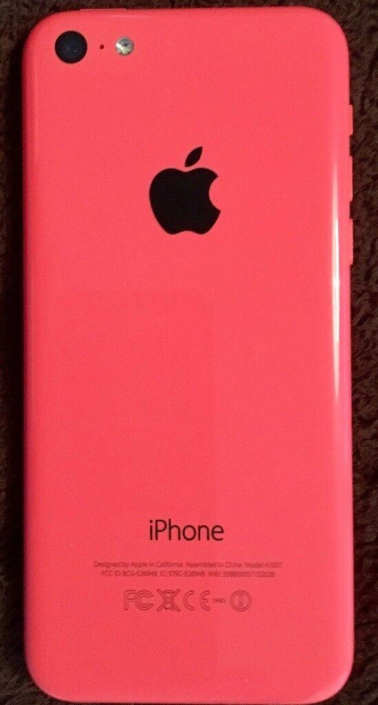 Pink 8gb iPhone 5c on O2