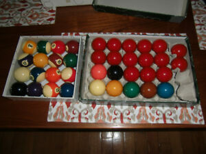 Pool and Snooker balls