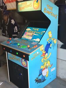 Newly built 4 player Simpsons themed arcade 1000s of games