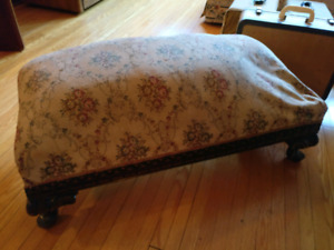 Long antique foot stool