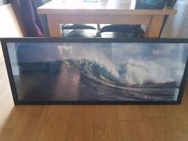 Large framed surf print
