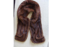 Beautiful genuine mink stole