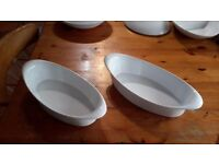 * REDUCED *OVEN TO TABLE 'THOMAS by ROSENTHAL' 2 LARGE OVAL DISHES
