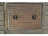 used manhole covers. ( replace cracked ones )