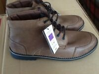Brown leather boots brand new men's size 12